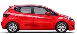 red city car with blank surface your creative design 1